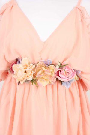 FLOWER BELT BABY PINK-3894